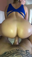 Blonde fucked by a big black dick